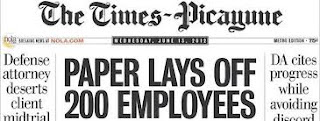 Times Picayune Layoffs