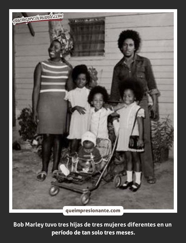Bob Marley con su Familia
