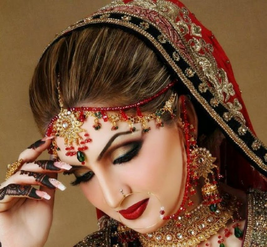 Indian Bridal Makeup Pictures 2016 Stani Indian Bridal Wedding Dresses ...