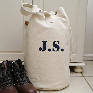 Personalised mens duffle bag