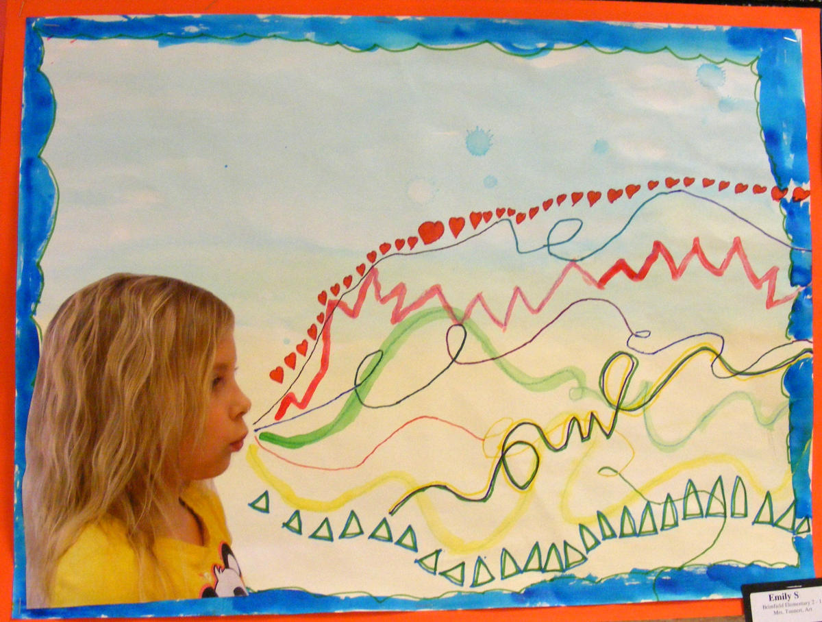 Line Art Lessons For Elementary : Suffield elementary art nd grade line studies