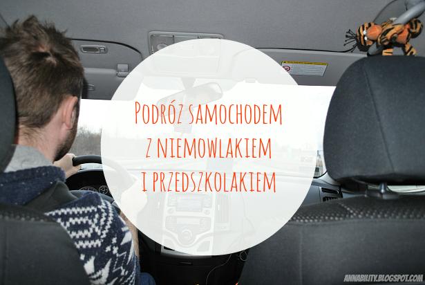 podróż, samochód, niemowlak, przedszkolak