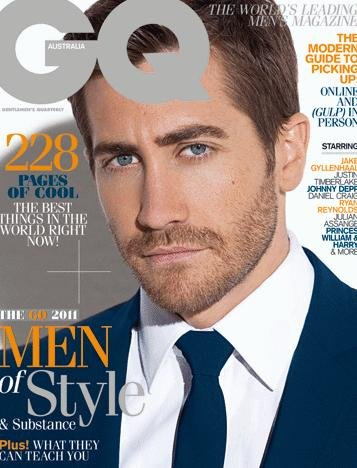 Jake Gyllenhaal on Australian GQ magazine cover