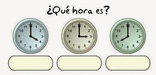Maestra de Primaria: ¿Qué hora es? Los relojes analógicos. En ...