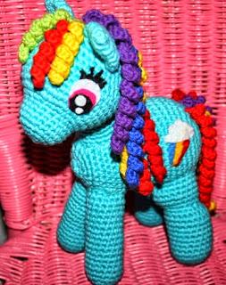 Pequeno Pony Amigurumi Patron : PATRON GRATIS RAINBOW (MI PEQUEnO PONY) AMIGURUMI 13020 ...