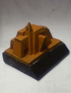 model replika gedung museum