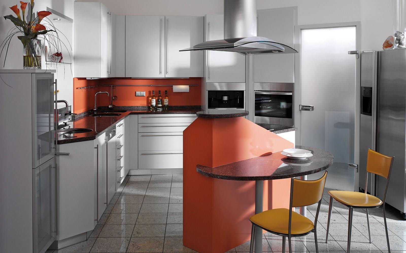 30 ideas de mesas y barras para comer en la cocina for Comedores circulares modernos