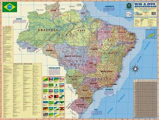 Brazil - harta gjeografike e Brazilit