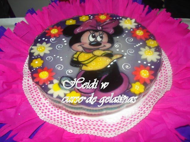 Gelatinas decoradas con motivo de Minnie bebé - Imagui