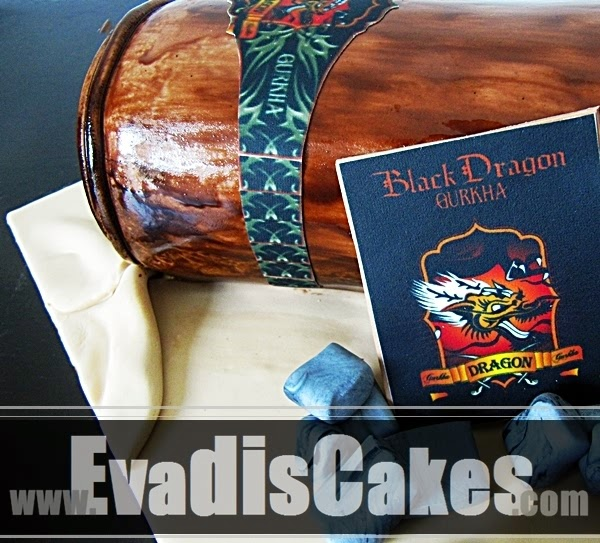 Close view picture of Cigar Sculpture Cake
