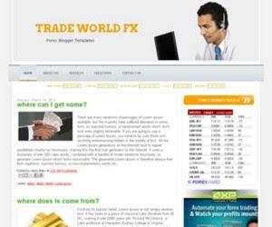 Trade World Blogger Template