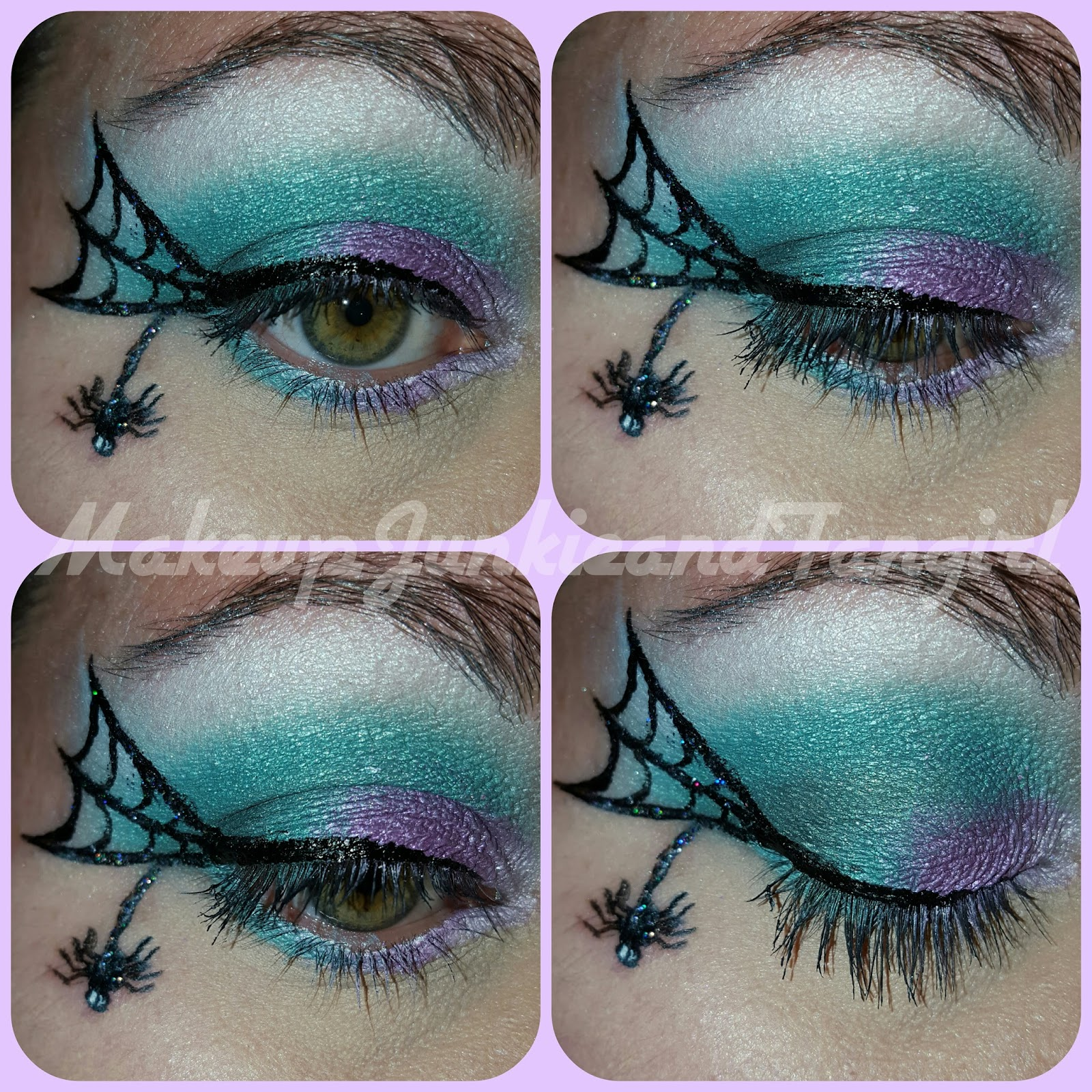 Makeup Junkie And Fangirl Halloween Witch Spider Web Eye Look
