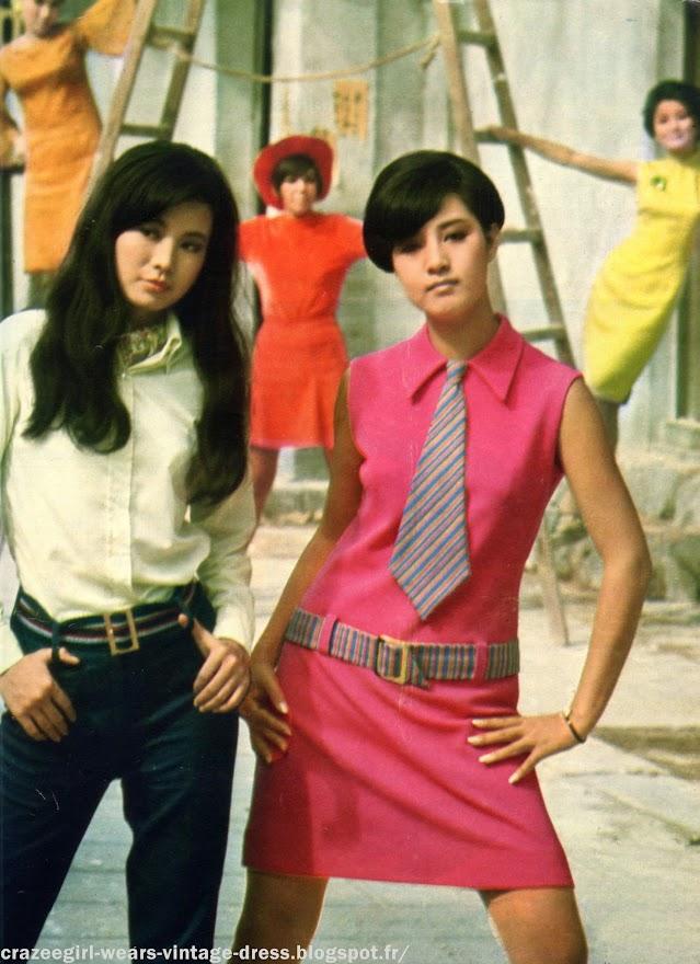 Jerk  cover-girls  bikinis   les jeunes Chinoises à l'heure de Londres  - 1967 mod mini skirt twiggy gogo quant sound beat 67 1960 60s années 60 vintage
