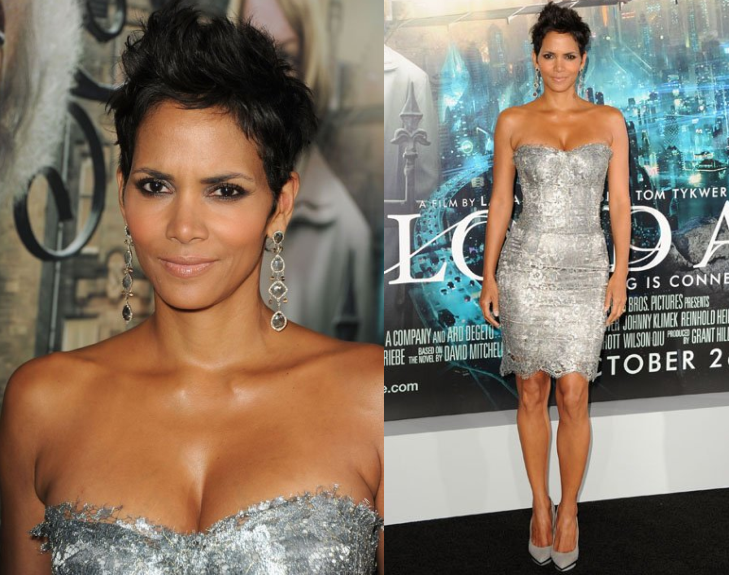 "Halle Berry in Dolce & Gabbana at the LA Premiere of ""Cloud Atlas"""