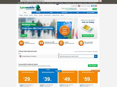 UX Design, Web design, site evolution, Lycamobile, Lycamobile site evolution, current website