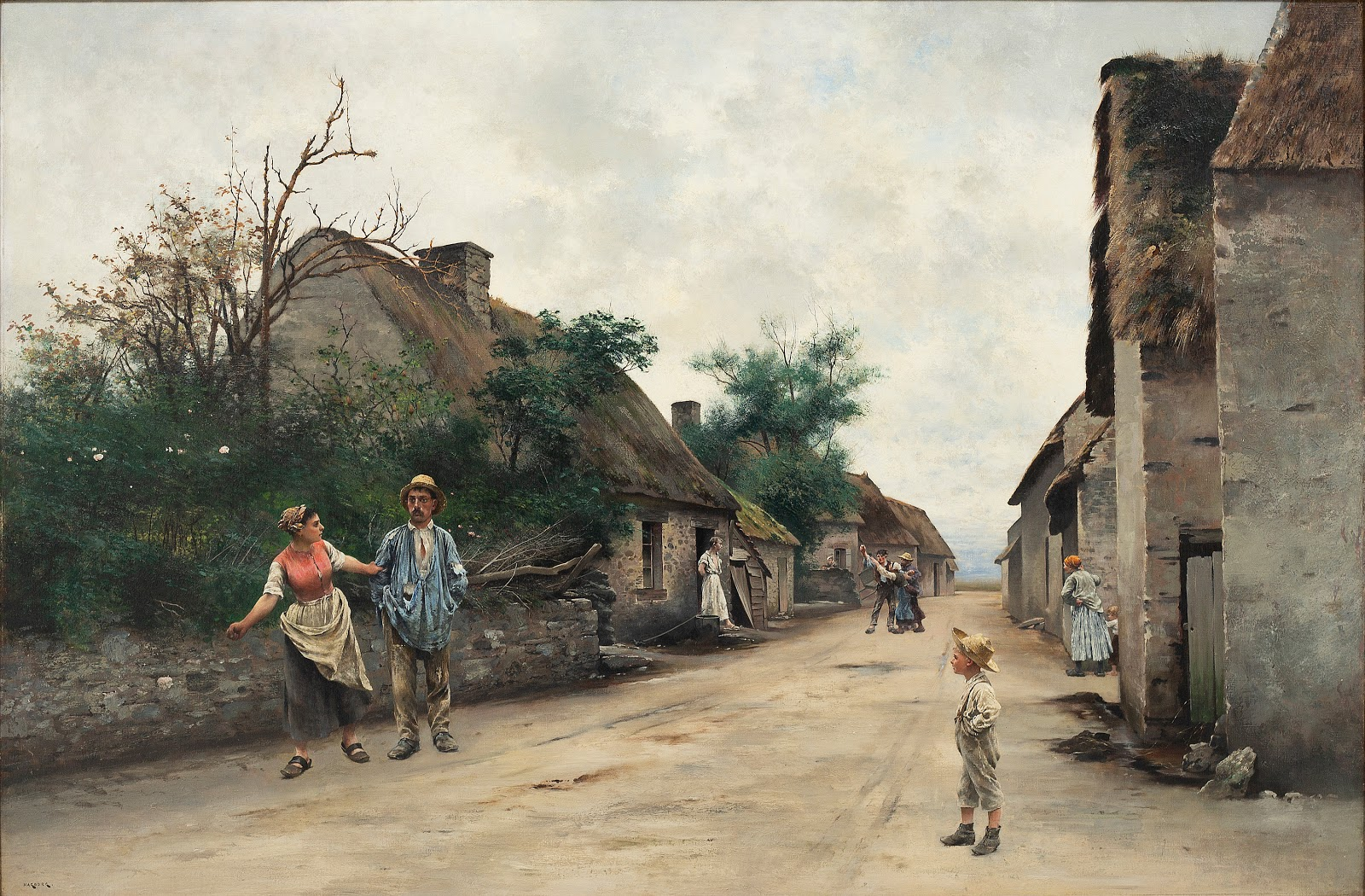 August Hagborg A street in  retagne
