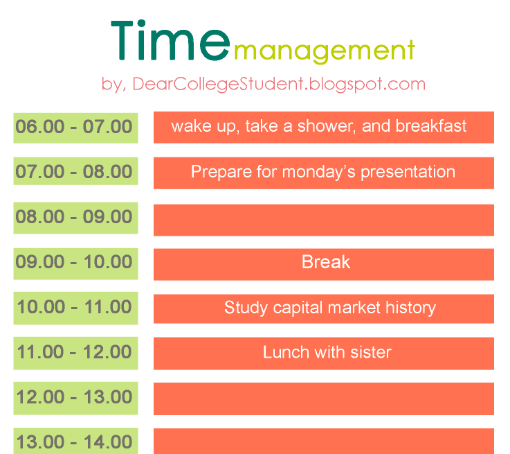 time management assignments for students