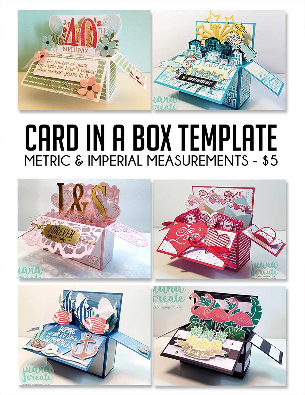 Card in a Box Template - $5