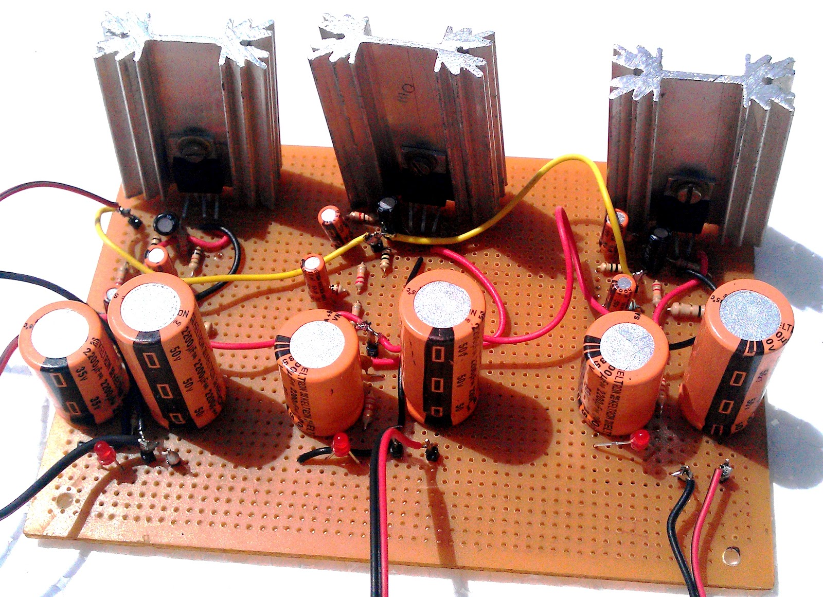 Ham Radio Mipl Audio Power Amplifier Frequency 20w Based Lm1875 But With Just 4 Speakers And 2 Circuits The Specification Was Met Done Here Is Pic Of