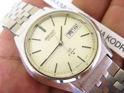 SEIKO GRAND SEIKO WHITE SATIN DIAL - GRAND SEIKO AUTOMATIC 5646 7010