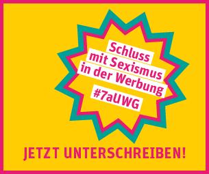 """<a href=""""http://werbung.pinkstinks.de/><img src=""""https://werbung.pinkstinks.de/wp-content/uploads/2014/06/badgebanner-01.png"""" alt=""""Schluss mit Sexismus in der Werbung"""" width=""""305″ height=""""255″></a>"""