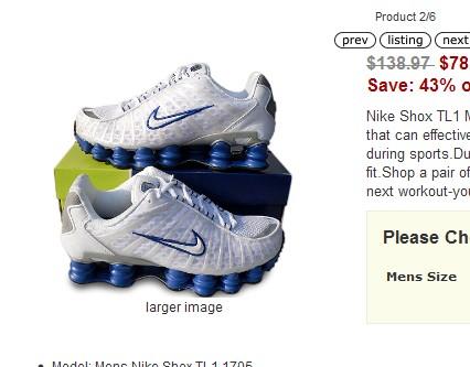 Womens Nike Shox TL1 Shoe White Sale Online