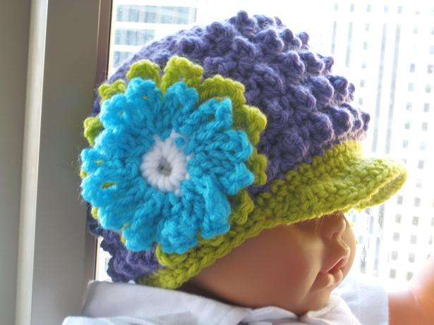 Free Crochet Patterns For Baby Girl Beanie : For the Love of Crochet Along: Visor Beanie Crochet ...