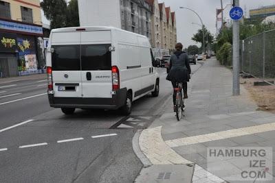 Stresemannstraße / Kieler Straße - Radweg