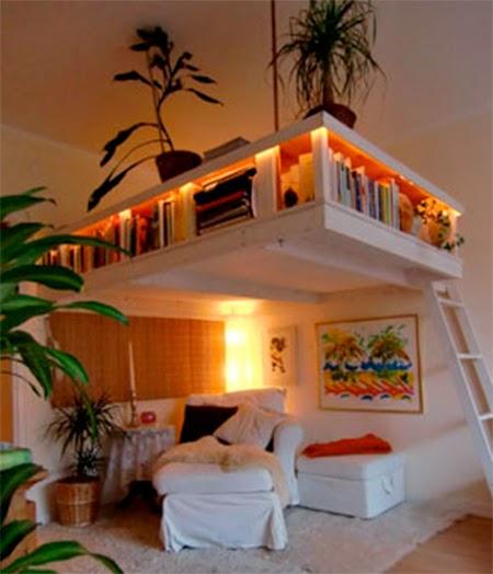 decoração, quartos, cama, loft, loft bed, suspended bed, escada, beliche