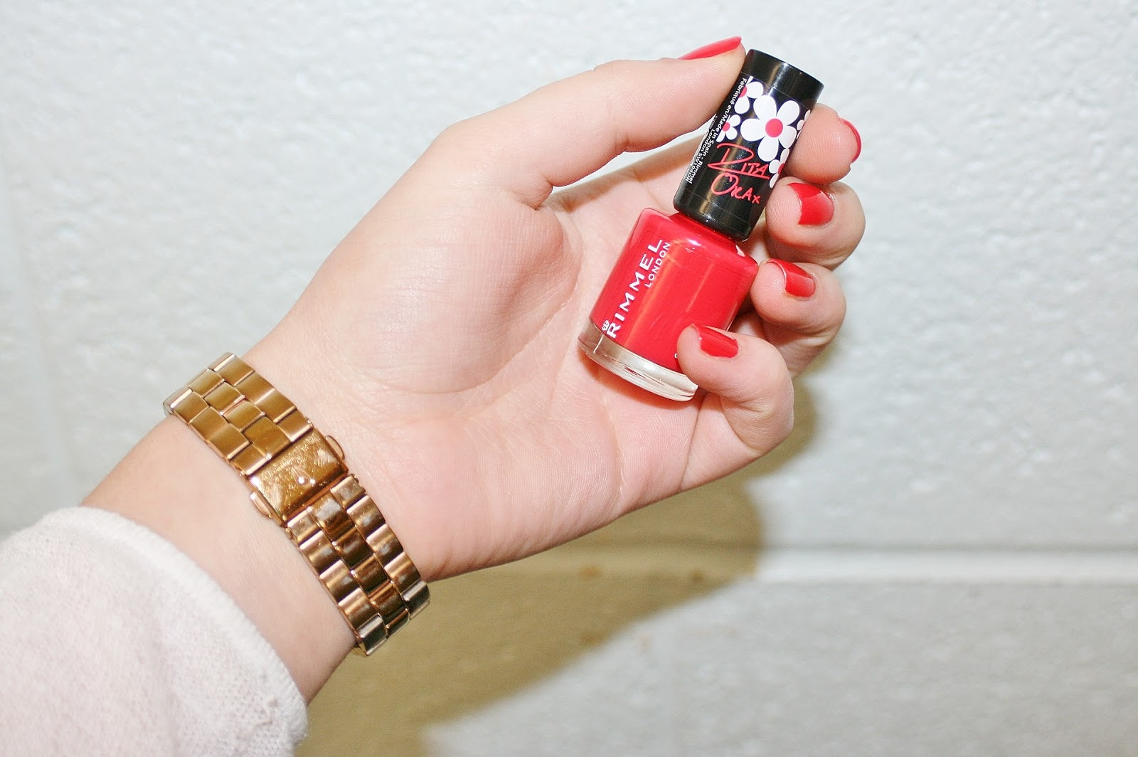 Katherine Penney Chic Red Nail Polish Manicure Essie Style Beauty Review