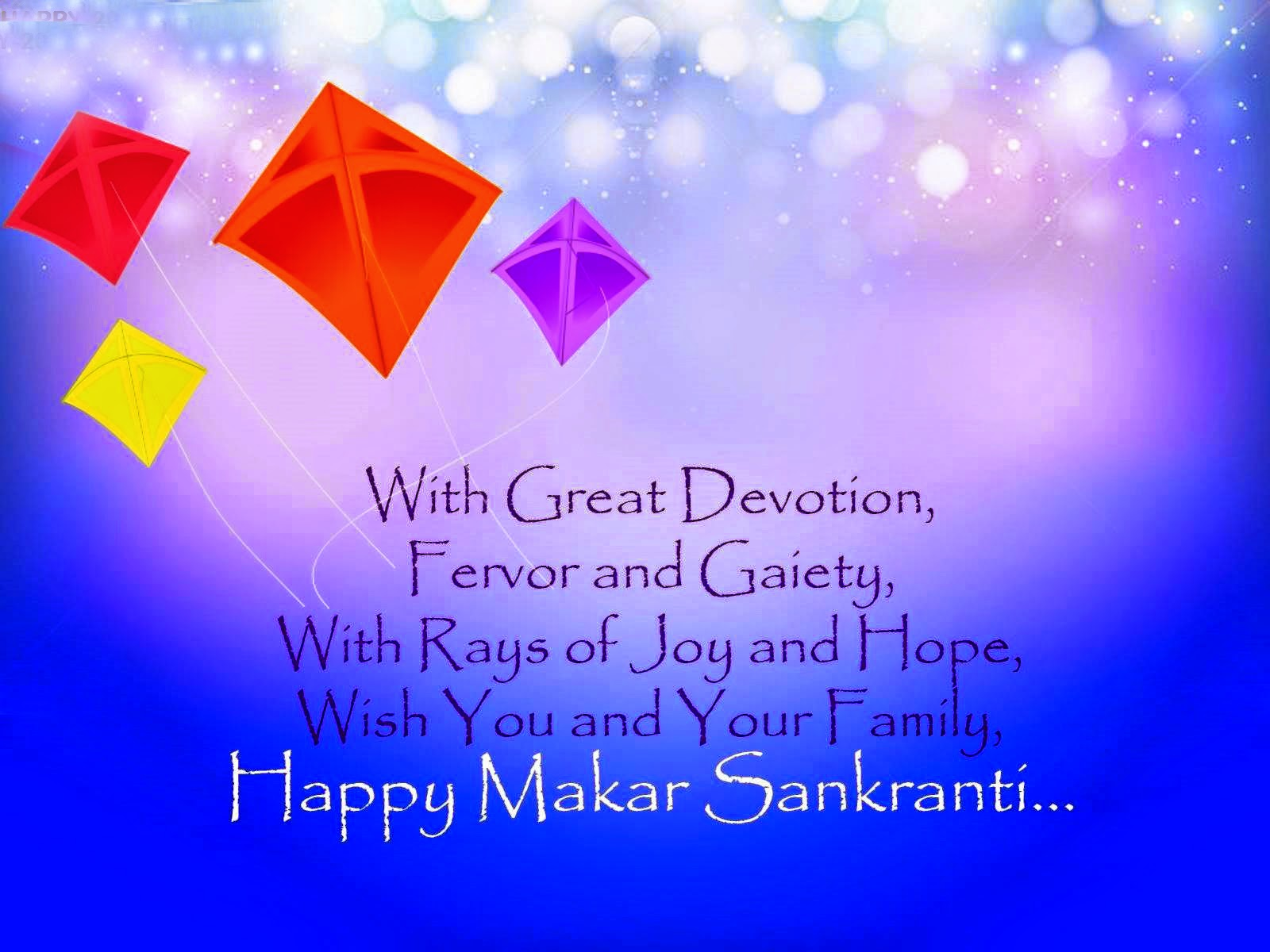 Whishing Happy Uttarayan Colorfull Kites Hd Images 2015