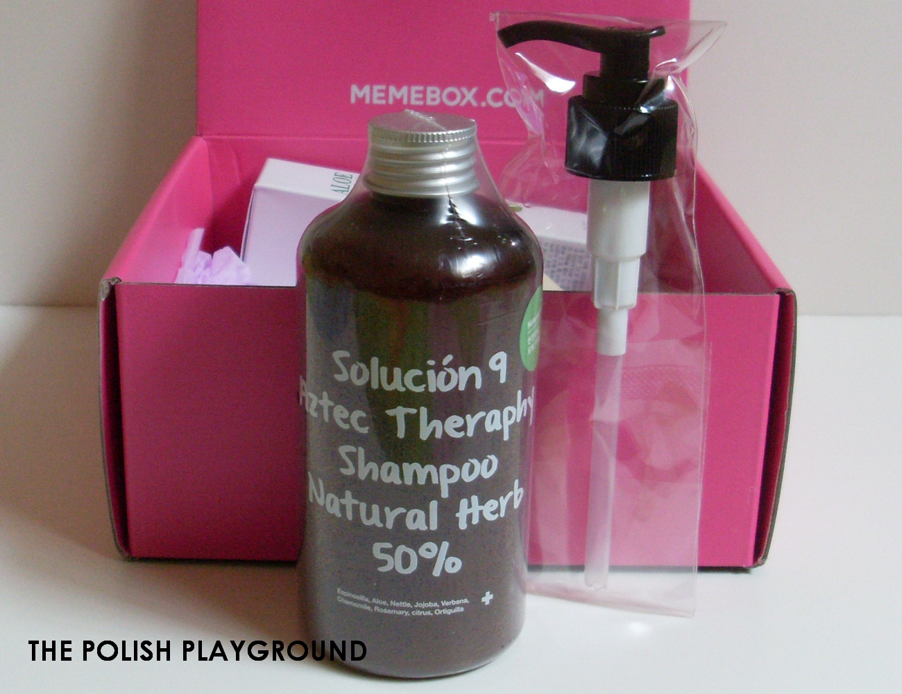 Memebox Special #64 Green Food Cosmetics Unboxing - Solucion 9 Aztec Therapy Shampoo