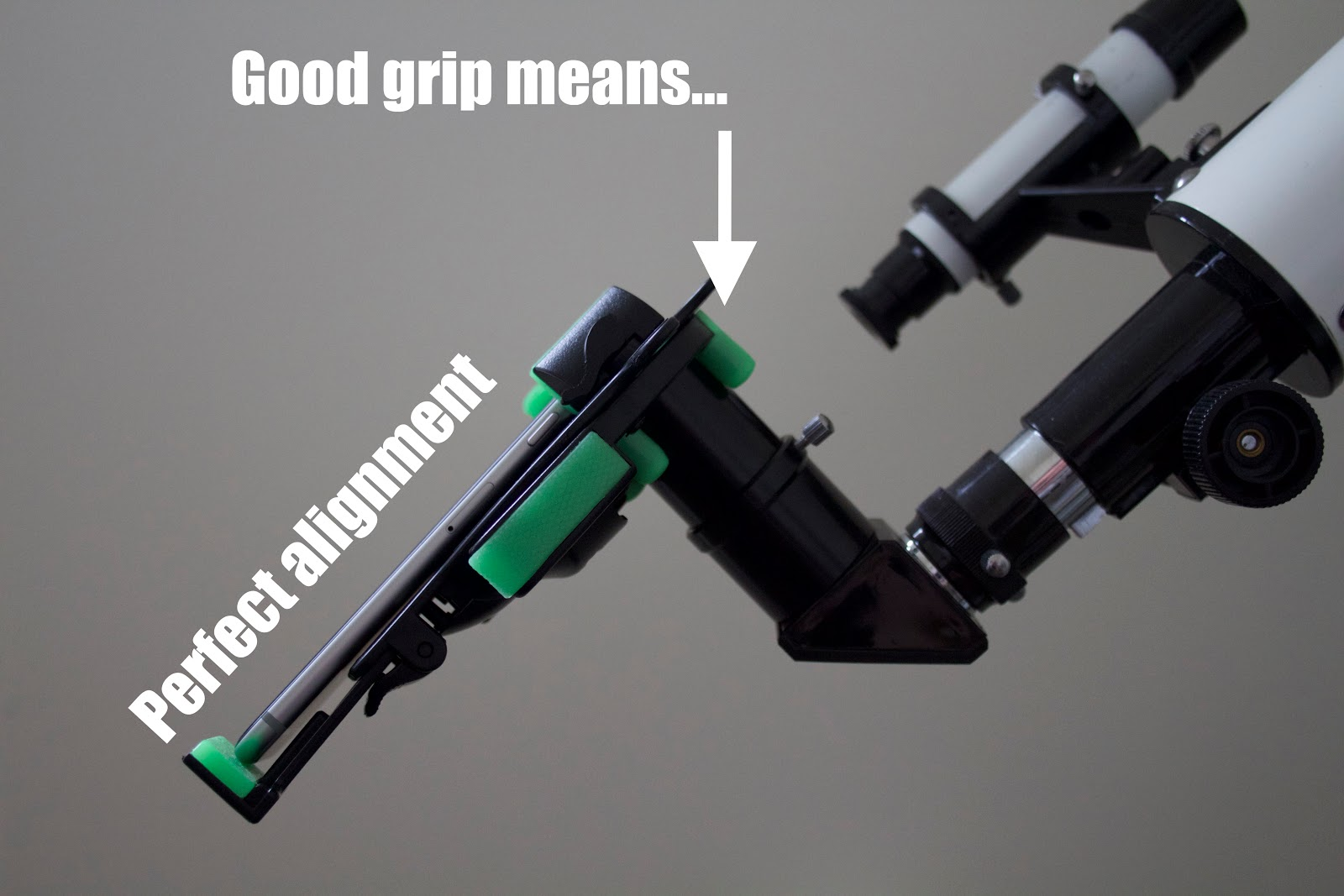 perfect alignment iphone to telescope