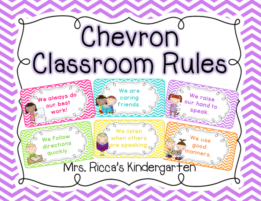 http://www.teacherspayteachers.com/Product/Chevron-Classroom-Rules-Editable-833849