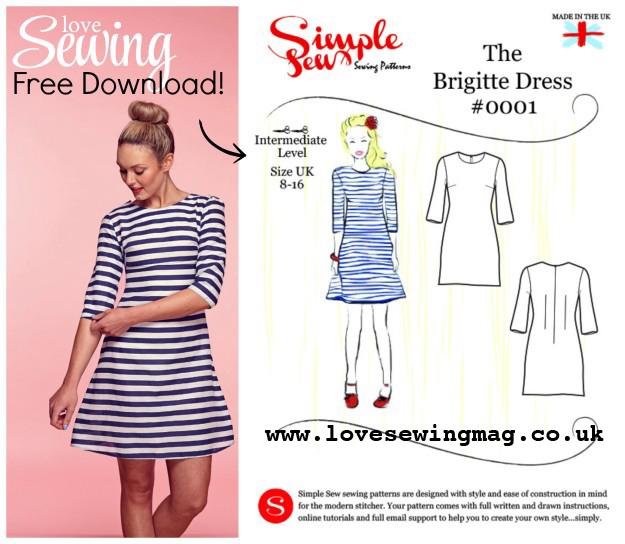 The Vintage Pattern Files: 1960\'s Sewing - Brigitte Dress