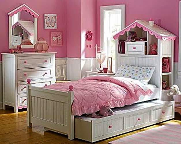 Habitaciones para niñas en color rosa 10