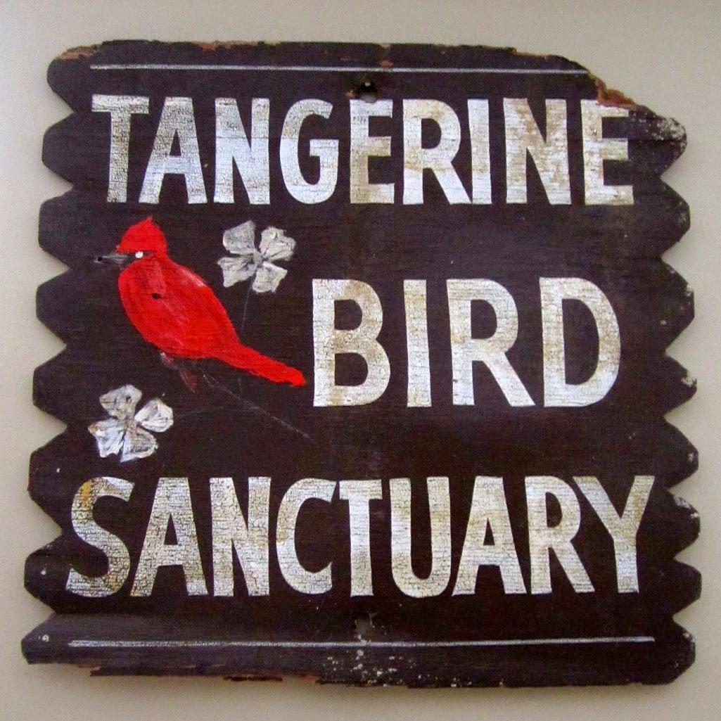 vintage bird sign