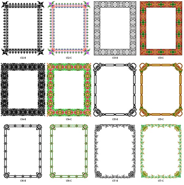 Vector Borders and Frames