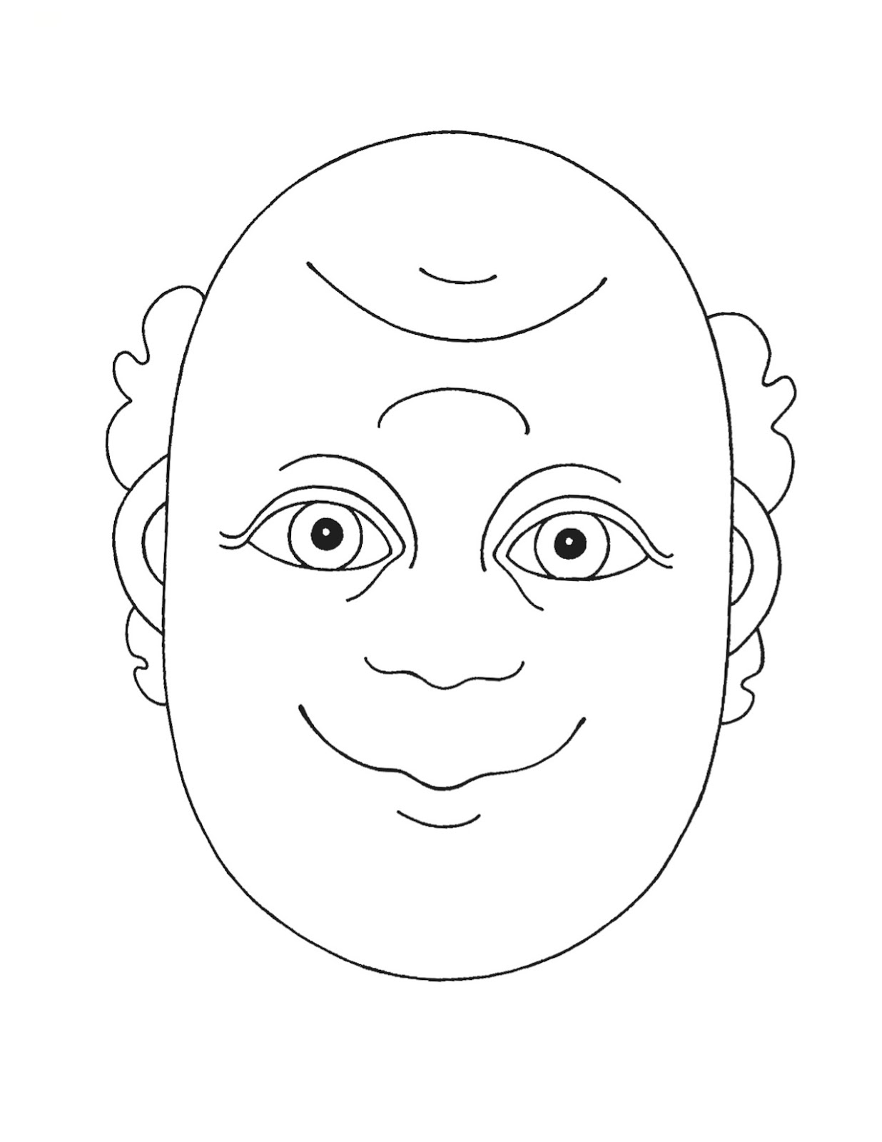 Happy sad faces coloring pages