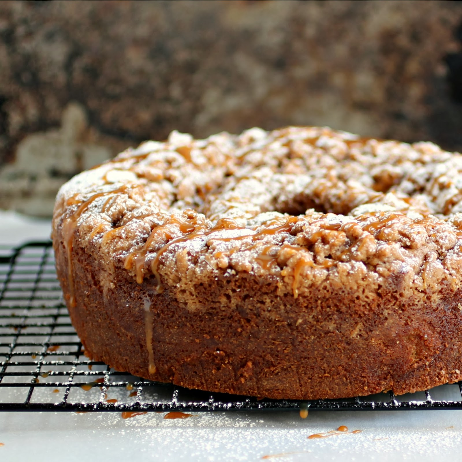 Hungry Couple: Caramel Apple Sour Cream Coffee Cake