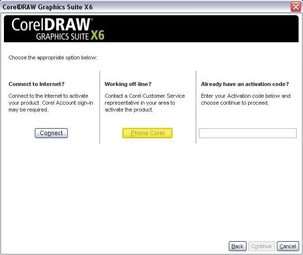 Installation code corel draw x6