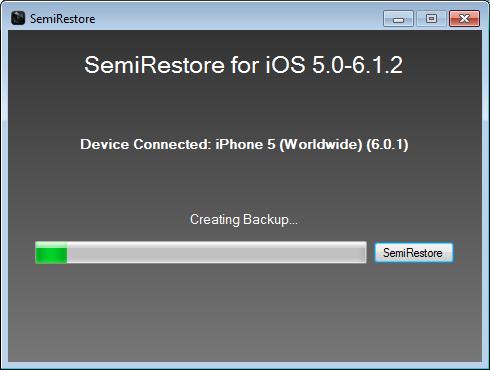 Semi Restore iOS 6.1.2