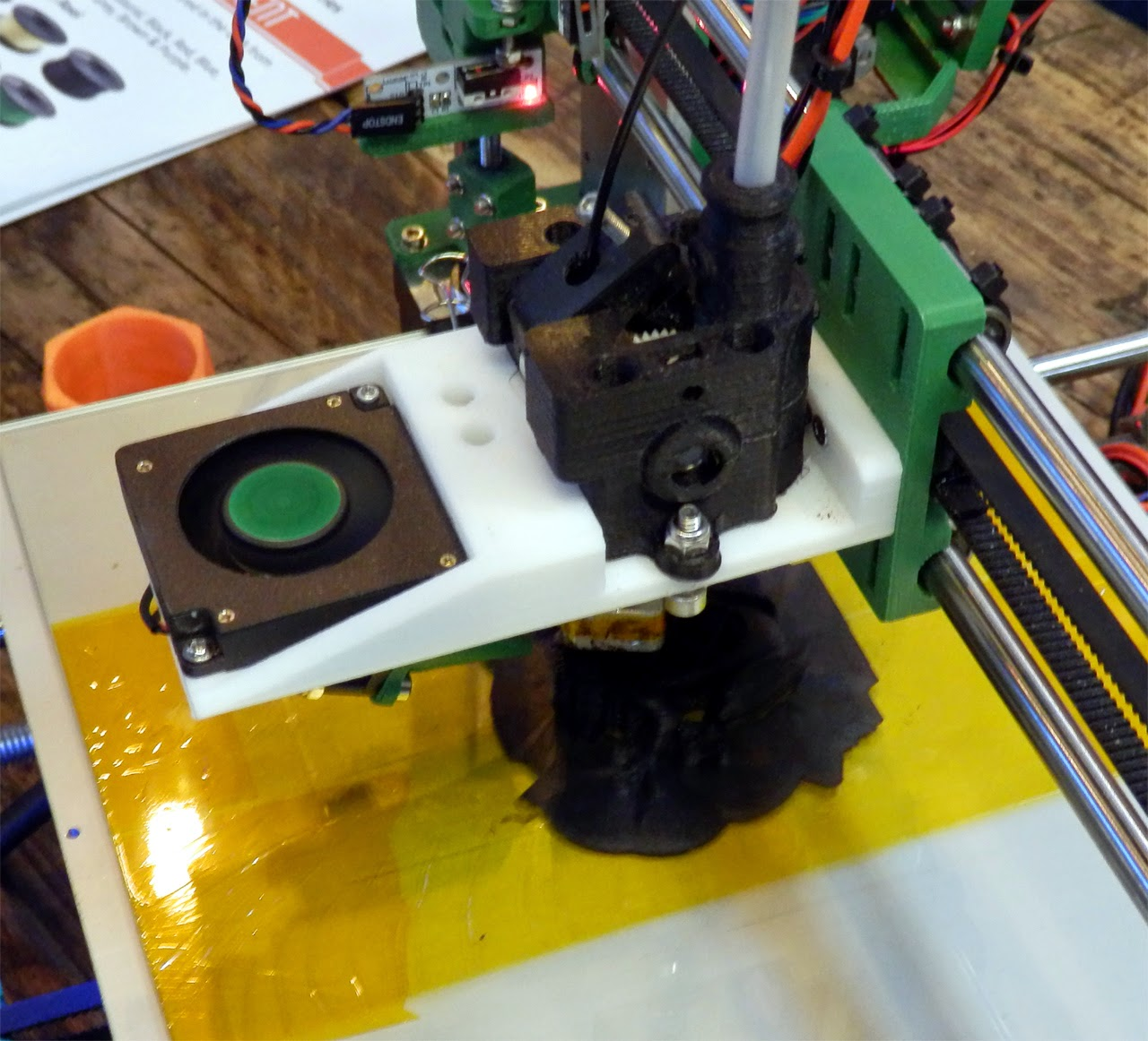 Reprap Development And Further Adventures In Diy 3d Printing Alike The Megatronics This Board Also Combines Ramps Arduino Mega A Flexible Drive Shaft Similar To Types Dremel Use Was Being Used Bowden Filament Pinch Wheel Gear Taking Motor Weight Off