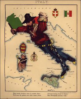 карта Италии карикатура