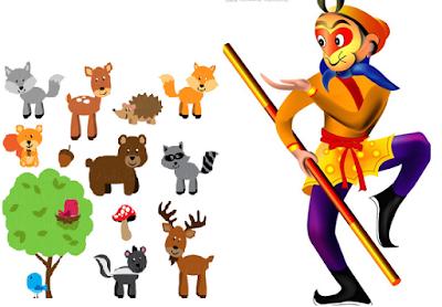 contoh narrative singkat tentang monyet ingin jadi raja