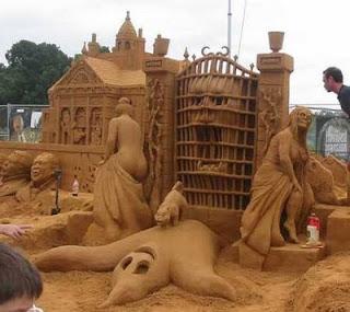 Amazing Indonesian Sand Art Sculpture Horse Art Sand  Sculpture