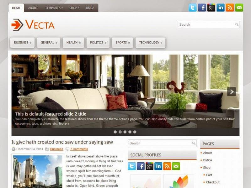 Vecta - Free Wordpress Theme