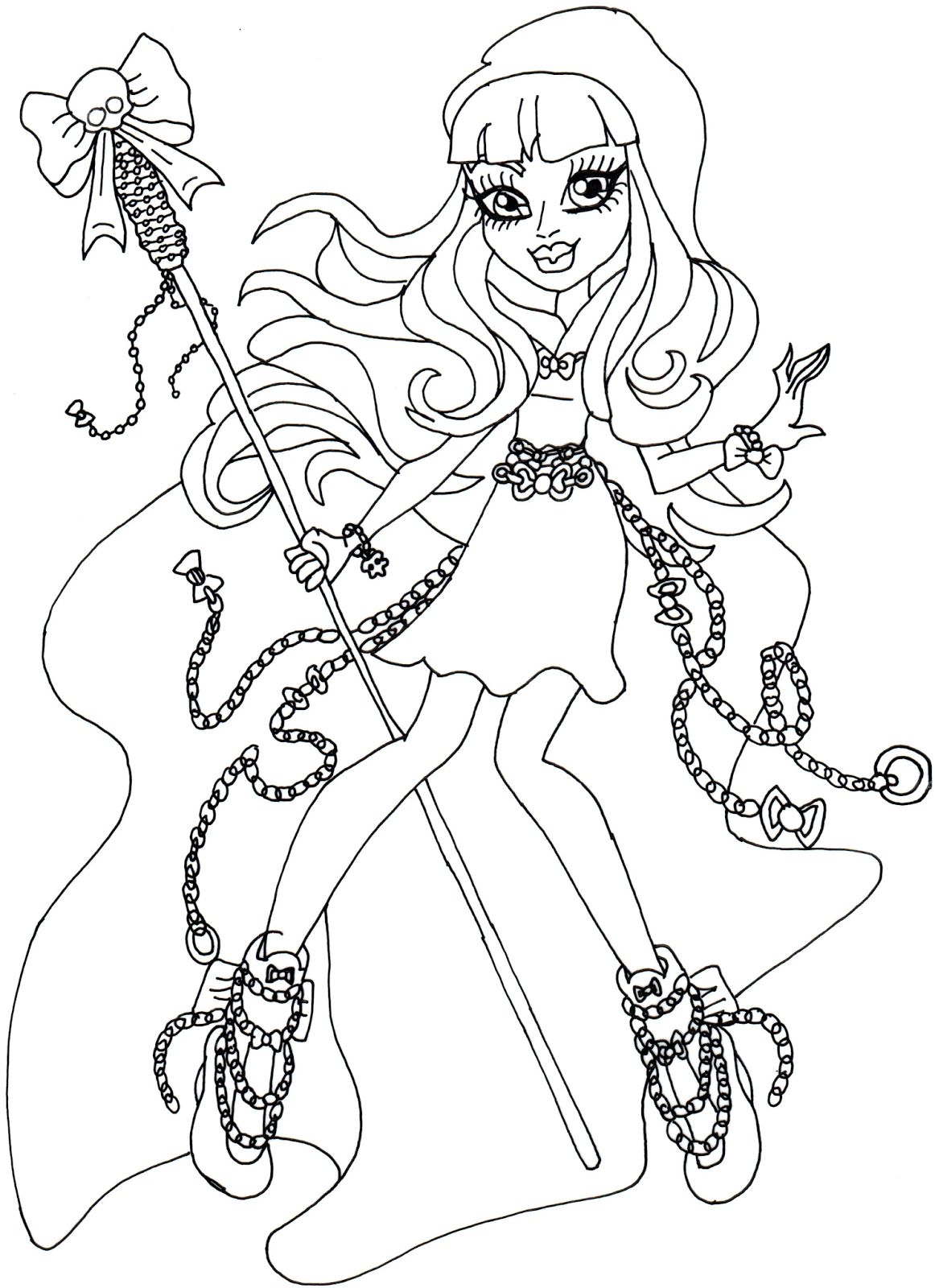 Free Printable Monster High Coloring Pages River Styxx Monster