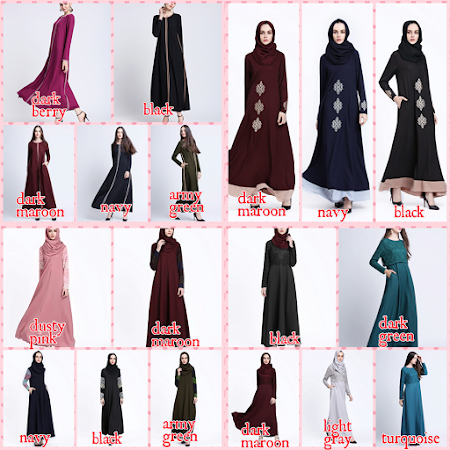 Pelbagai Koleksi Jubah Kegemaran Ramai Dengan Pelbagai Rekaan Design YAng Terkini