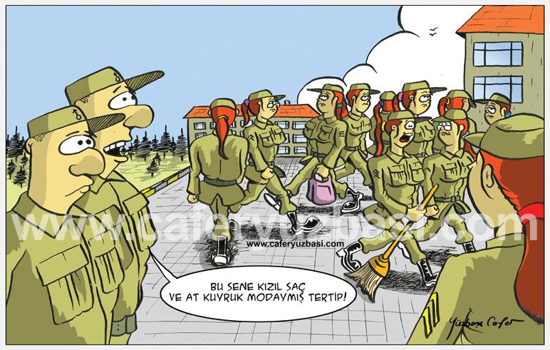 kizil saç-Kadinlar Asker Olursa?